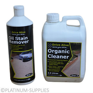 Drive alive organic cleaner oil grease stain remover for Driveway stain remover