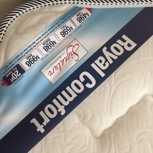 Double bed set mattress and frame LIKE NEW ORIGINAL BAGS/RECEIPT