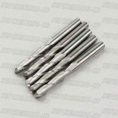 5x 6.0mm 6mm 14 2 Flute Carbide Ball Nose End Mills Router Bit Bits 32mm Cel