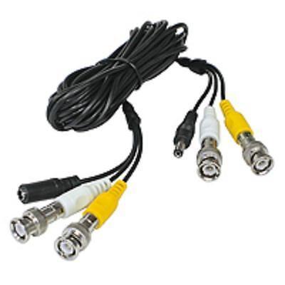 Cable Cordón 5m Cámara Video Audio Coaxial BNC - RG59 + Alimentación...