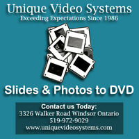 Photos & Slides Transferred to DVD