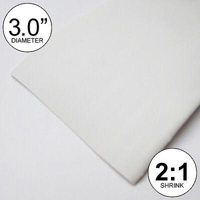 3 Id White Heat Shrink Tube 21 Ratio Polyolefin 3.0 2 Feet Inchftto 80mm