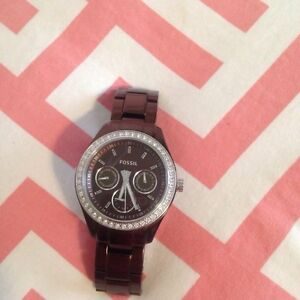 Bronze coloured fossil watch