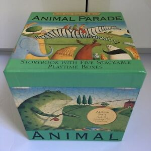 Animal Parade - Storybook & 5 Stackable Play Time Boxes London Ontario image 1