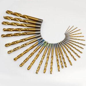 1-5-13mm-1-Pc-Titanium-Coated-Profestional-Straight-Shank-Twist-HSS-Drill-Bits