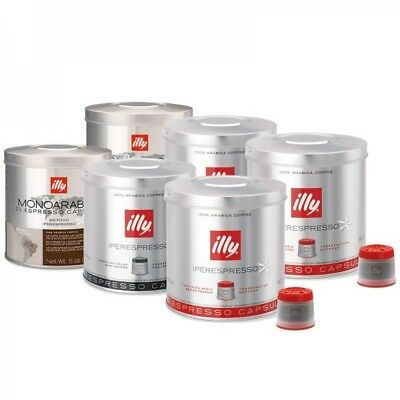 Illy Iperespresso 126 Coffee Capsules Mixed Case, Brazilian, Dark Roast, Classic