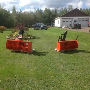 "2 kubota front snow blower 56""and 50"""