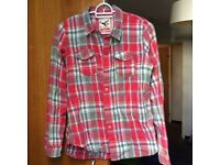 Red Checkered Shirt Size XS