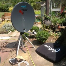 Sat gear 78cm dish with HD receiver and Tripod.