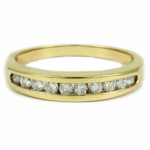 14k Yellow Gold diamond anni band(10 diamonds,0.35ct tdw) #2532