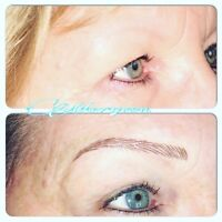 Microblading by certified permanent makeup artist