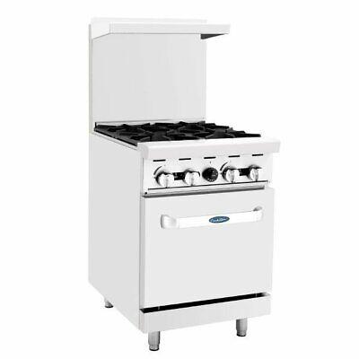 Atosa Usa Ato-4b 24 Gas Restaurant Range 1 Space Saver Oven 4 Open Bur...