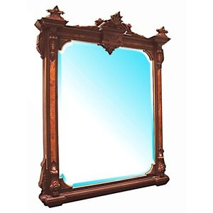 0334-American-Renaissance-Revival-Walnut-Wall-Mirror
