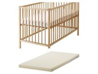 IKEA cot bed with matress