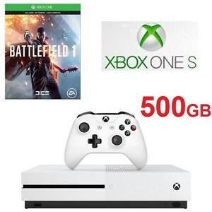 NEW XBOX ONE S 500GB CONSOLE BUNDLE MICROSOFT - BATTLEFIELD 1 BUNDLE - VIDEO GAMES - 4K ULTRA HD - ELECTRONICS