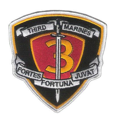3rd Marine Regiment Patch - USMC - Korea, Vietnam, OIF, OEF, DEVIL DOG