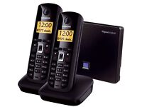 Siemens IP telephone system (VoIP & landline ) with 6 handsets for simultaneous calls