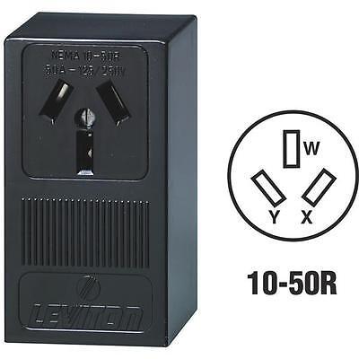 10-leviton 50a Nema 10-50r Black 3 Pole Non-grounding Range Power Outlet 5050