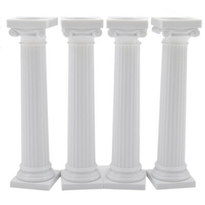 Plastic Greek Columns (Wilton Grecian Column Pillars 5 Inches Set of 4 | Cake)