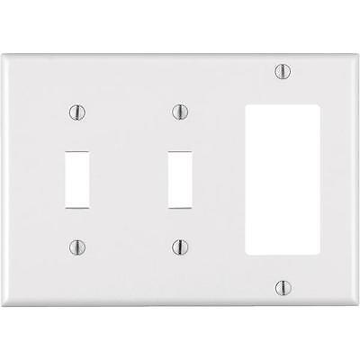 100-Leviton 3-Gang 2 Toggle 1 Rocker Light Switch Wall Plate Cover