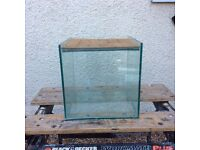 All glass cube aquarium vivarium fish tank with lid