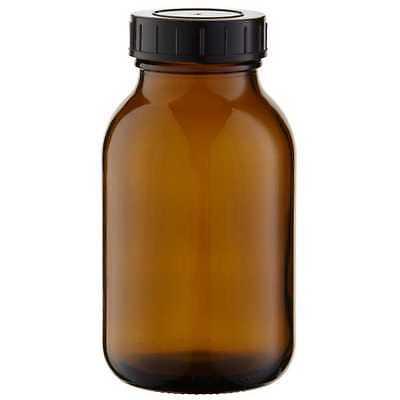 3 x Weithalsflaschen 500ml Braunglas inkl. Schraubverschluss mit Dichtungsscheib