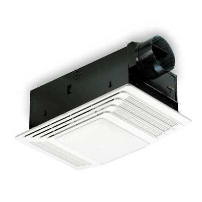 BROAN 655 Ceiling Bathroom Fan, Lighted, 70 cfm, 4