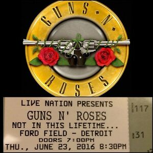 GUNS N' ROSES LOWER BOWL JULY 23rd FORD FIELD