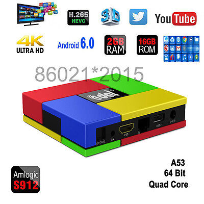 Edal T95K Pro S912 Android6.0 Octa-core 4K Smart TV Box 2G/16G WIFI 2.4G/5G