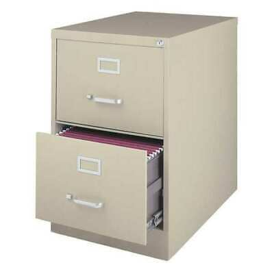 Hirsh 14418 26.5 Deep Vertical Legal Size 2 Drawer File Cabinet Putty