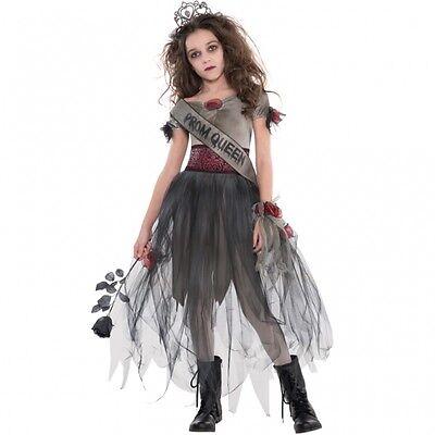 Halloween Kostüm Gr. 152 158 5tlg. Mädchen Zombie Abschlussball Königin Kinder - Kostüm Abschlussball Königin