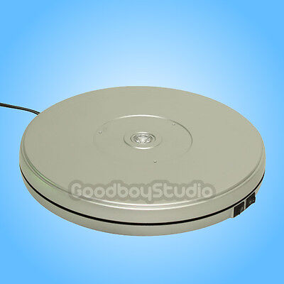 [US] Silver 25cm 10KG 3D Heavy Duty Rotary Rotating Display Stand Turntable
