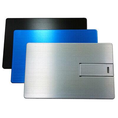 Card Usb Flash (Metall Credit Card USB Stick Silber USB Flash Drive 2.0 metal silver Geldkarte )