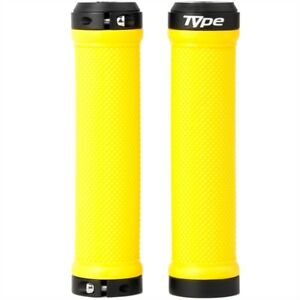 Brand New S-Type Lock On Bike Grips - Yellow