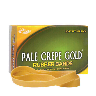 Alliance Pale Crepe Gold Rubber Bands 107 7 X 58 1 Lb Box Of 60