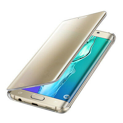 Discounted Price Genuine Samsung Galaxy S6 Edge Plus Clear View Cover GOLD