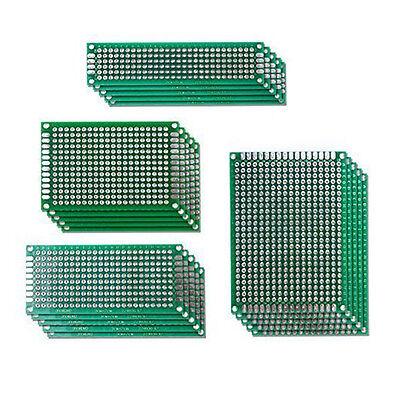 20 Stück Lochraster Leiterplatte Streifenraster Sortiment Platine doppelseitig
