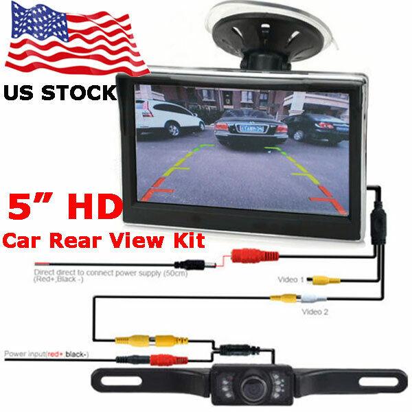 Vehicle Waterproof Night Vision Backup Camera and Monitor Ki