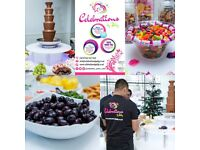 Chocolate Fountain Hire,Photo Booth Hire,Candy floss, Popcorn, Chair Covers, Dessert Table,Catering