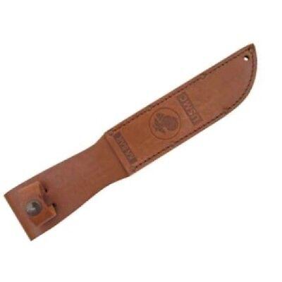 "Ka-Bar 1217S USMC Brown Leather Belt Sheath Fits Most 7"" Blades"