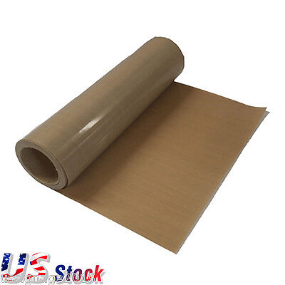 "USA! 39"" x 5 Yard PTFE Fabric Sheet Roll 5Mil Thickness for Sublimation Printing"