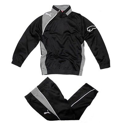 Puma Kinder Trainingsanzug Jogginganzug Sport Anzug Jacke Hose schwarz S XS NEU