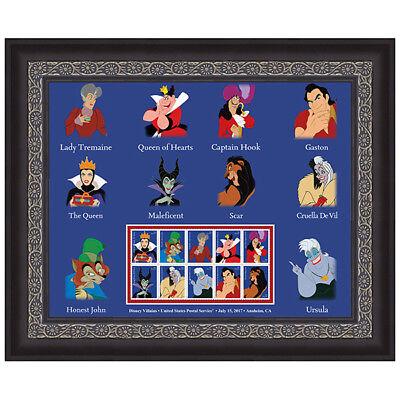 USPS New Disney Villains Framed Art