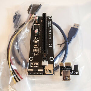 PCI-E Express 1x to 16x riser card with USB 3.0 Cable/ BTC / ETH