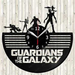 Guardians of the Galaxy Movie Vinyl Record Wall Clock Decor Handmade 1134