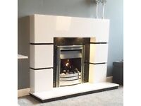 Marble fireplace brand new free down lights