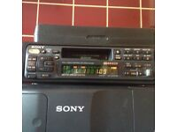 Sony car stereo with 10 cd changer and aux in