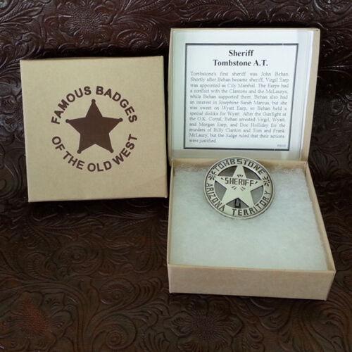 Tombstone Arizona Sheriff Badge Replica