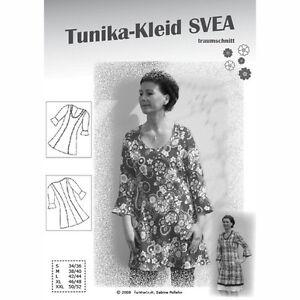 ~ Schnittmuster SVEA ~ TUNIKA-KLEID 34/36-50/52 Farbenmix