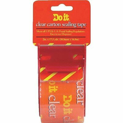 2 Pack 2 X 17.5 Yd Clear Packing Tape With Dispenser - Carton Sealing Tape